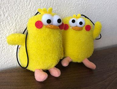 黄色の鳥ポインコ兄弟