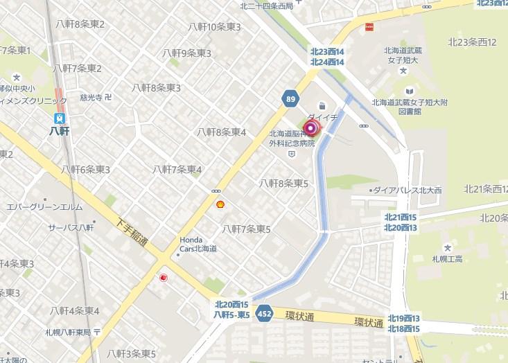 八軒ひまわり公園の地図