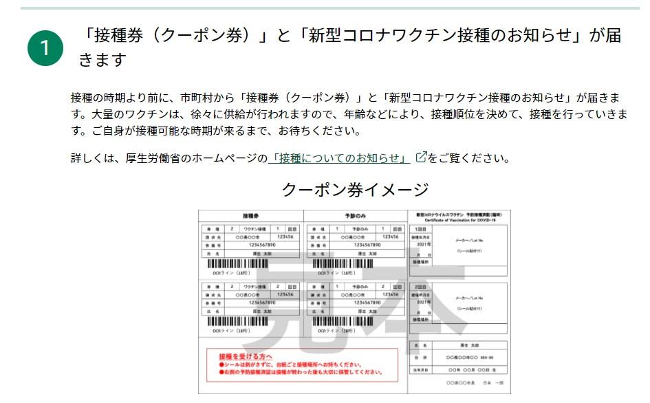 札幌の接種券・クーポン券
